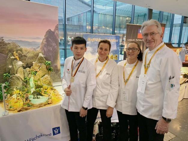 雲林子弟廖正宇 德國奧林匹克廚藝大賽勇奪金牌 張麗善恭賀表揚雲林之光。(記者張達雄攝影)