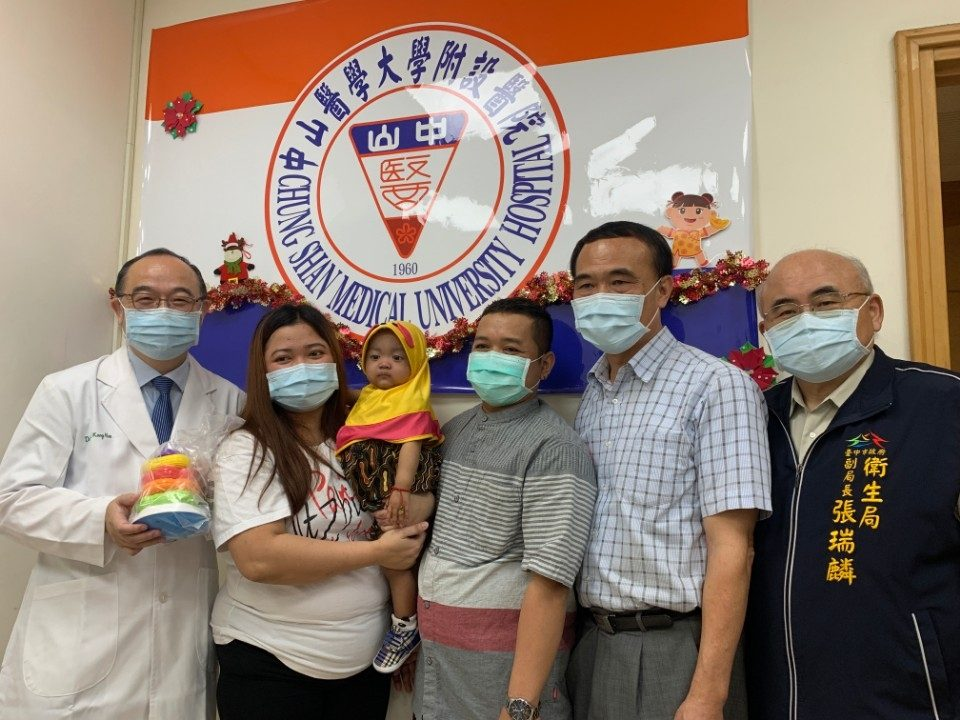 台灣善心雇主+中山附醫醫療團隊全力協助印尼小病童骨髓移植重生!。(記者林志強翻攝)