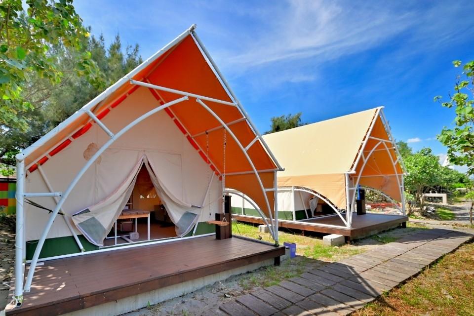 大安濱海樂園-露營區。(記者張越安翻攝)