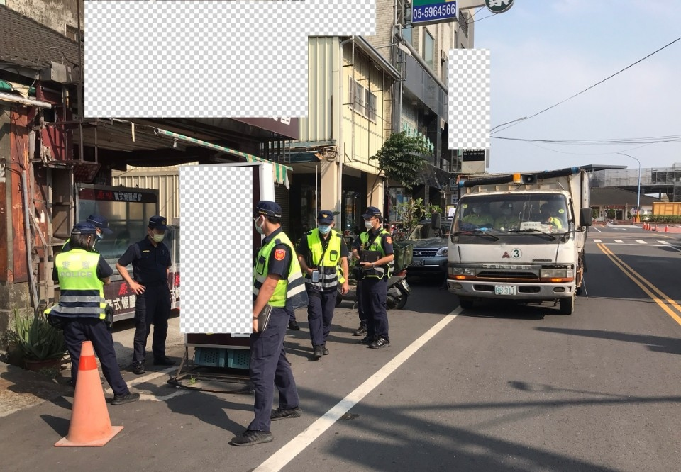 斗南警分局實施「清道專案」 以提供民眾優質行車環境。(記者蘇杉郎翻攝)