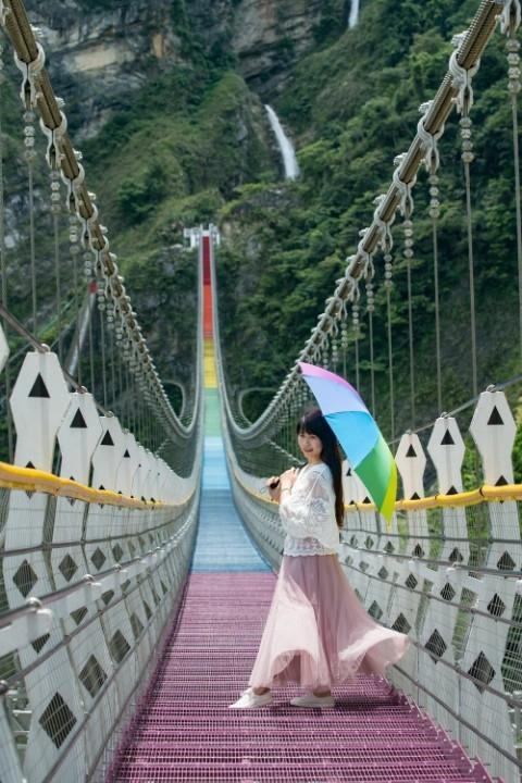 雙龍七彩吊橋6月20日開幕 依希岸部落觀光嘉年華開鑼。(記者陳金泉翻攝)