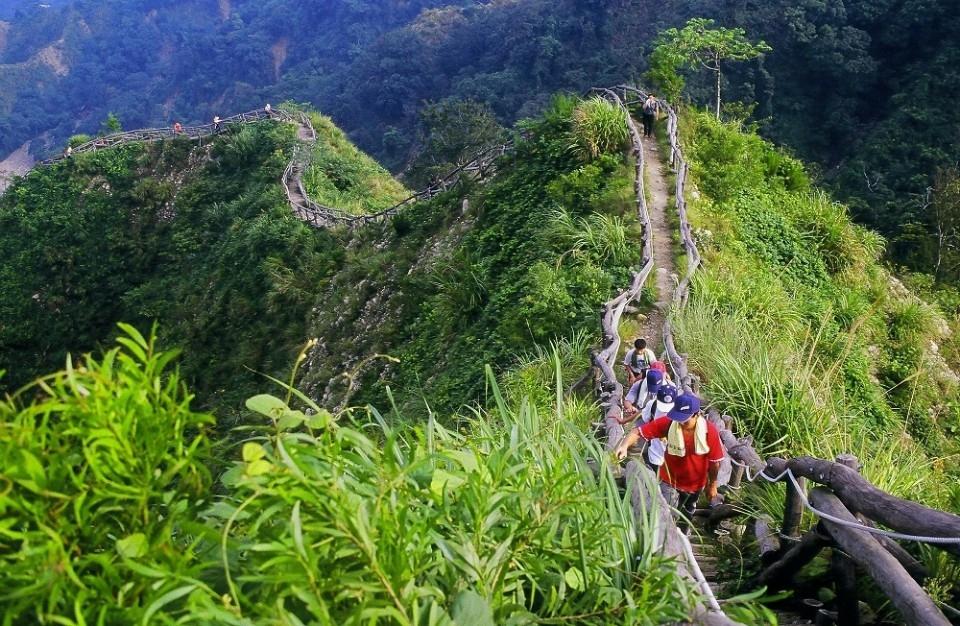 大坑登山步道。(記者張越安翻攝)