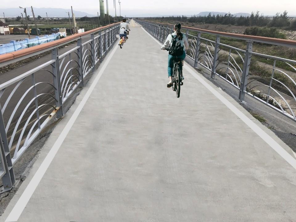 濱海自行車道大甲段-完工模擬圖。(記者張越安翻攝)
