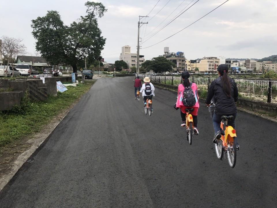 豐原大道自行車道-完工模擬圖。(記者張越安翻攝)