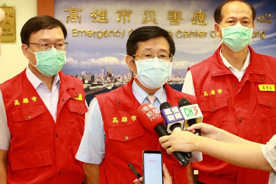 米克拉颱風警戒 楊明州籲避免水域活動。(記者劉明吉翻攝)