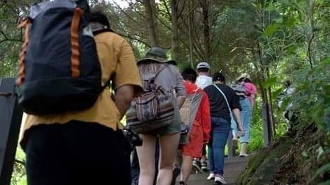 雙崎部落埋伏坪登山步道行銷推廣。(記者林志強翻攝)
