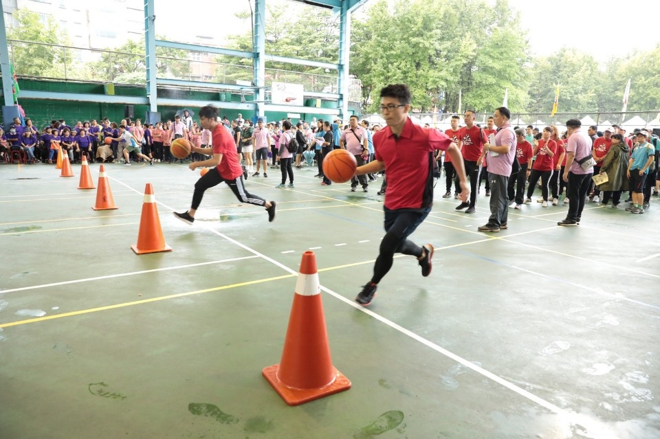 推動全民體育 全市運動會百福國中熱鬧登場。(記者李露西翻攝)