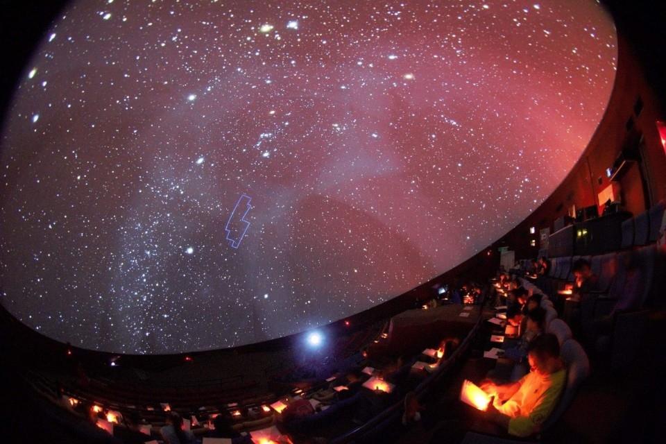 天文館2020年天文知能檢定「全天88星座」試前教學。(特約記者林有定翻攝)