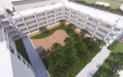 竹北成功國中二期校舍上樑 今年9月即可竣工招生。(記者張如慧翻攝).jpg