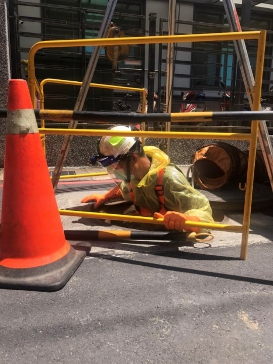 新北市污水下水道工程已加強防疫措施 設施持續運轉請市民安心使用。(特約記者林有定翻攝).jpg