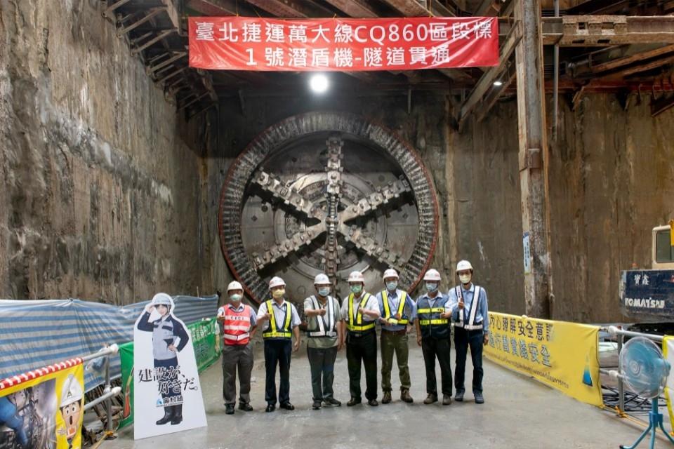 捷運萬大線新北市轄段第一條潛盾隧道順利於7月14日貫通。(特約記者林有定翻攝).jpg