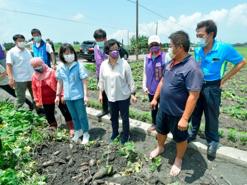 彰化豪雨農損已近3千萬 籲請受災農民於8月19日前申請補助。(記者游樂華翻攝)